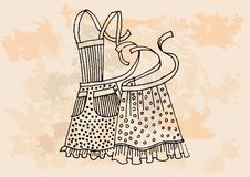 Retro apron set Stock Photography