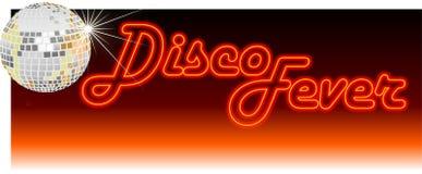 Retro arancio di febbre della discoteca illustrazione vettoriale