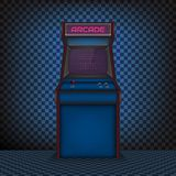 Retro arcade game machine. The style of the 80`s. Vector illustration Stock Illustration