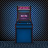 Retro arcade game machine. The style of the 80`s. Vector illustration Royalty Free Illustration