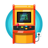 Retro arcade machine plugged in Stock Photos