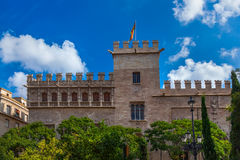Retro architektura przy Walencja Hiszpania Zdjęcia Stock