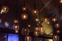 Retro ardore leggero di lusso della decorazione della lampada Immagini Stock