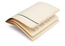 retro ark för handskriven musik arkivbilder
