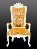 Retro armchair. On black background Stock Image
