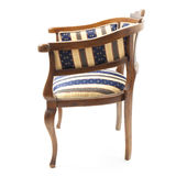 Retro Armchair with Striped Upholstery Royalty Free Stock Image