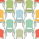 Retro armchairs seamless background Stock Image