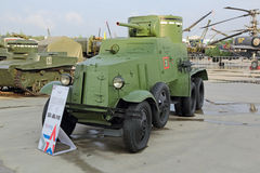 Retro armored car Stock Images