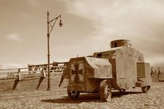 Retro army transport WW1 Royalty Free Stock Photos