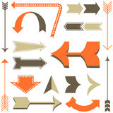 Retro Arrow Designs Stock Images