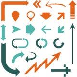 Retro Arrow Designs Royalty Free Stock Image