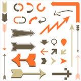 Retro Arrow Designs Royalty Free Stock Photography