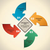 Retro arrow infographic design Royalty Free Stock Photography