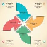 Retro arrow infographic design Stock Photography