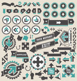 Retro arrows icon set Royalty Free Stock Photo