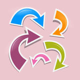 Retro Arrows on Pink Background Royalty Free Stock Photography