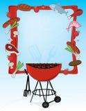Retro--Art BBQ-Feld Lizenzfreie Stockfotografie