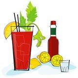 Retro--Art Bloody Mary stock abbildung