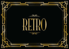 Retro art deco Fotografia Royalty Free