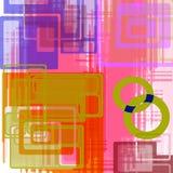Retro- Art- DecoHintergrund Stockfoto