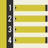Retro Art der schwarzen gelben Auslegungsschablone Lizenzfreie Stockfotos