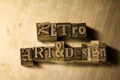 Retro art & design - Metal letterpress lettering sign Royalty Free Stock Photography