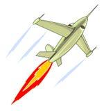 Retro- Art-Kampfflugzeug Stockfotografie