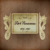 Retro Art Nouveau Title Royalty Free Stock Photography