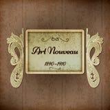 Retro Art Nouveau Title Royalty Free Stock Photography