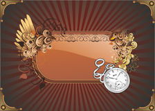 Retro art vector  illustration banner Royalty Free Stock Photo