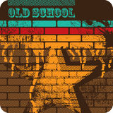 Retro artistic brick wall Royalty Free Stock Image