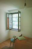 Retro ascetic room. Poor empty retro ascetic room stock images