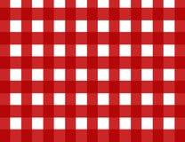 Retro assegno rosso del percalle Immagini Stock Libere da Diritti