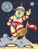 Retro astronauta Fotografia Stock Libera da Diritti