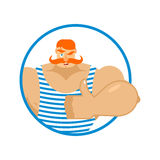 Retro athlete thumbs up well and winks. Signs all right. Royalty Free Stock Image