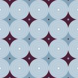 Retro- Atomfünfziger jahre Mitte- des Jahrhundertsweinlese-kreist nahtloses Hintergrund-Blau ein Lizenzfreies Stockfoto
