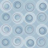 Retro- Atomfünfziger jahre Mitte- des Jahrhundertsweinlese-kreist nahtloses Hintergrund-Blau ein Stockfotos