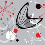 Retro- Atomfünfziger jahre Mitte- des Jahrhundertsweinlese-nahtloser Hintergrund vektor abbildung