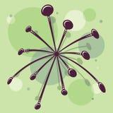 Retro- Atomfünfziger jahre Mitte- des Jahrhundertsweinlese-nahtloser Hintergrund Starburst stock abbildung