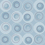 Retro Atomic 1950s Mid Century Vintage Seamless Background Blue Circles. 1950s mid century modern vintage retro atomic seamless background pattern. Fully vector illustration