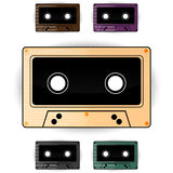 Retro audio cassette Stock Photo