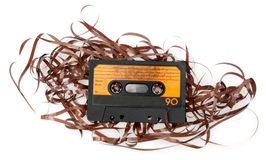 Retro Audio Cassette Tape Royalty Free Stock Images