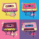 Retro Audio cassette tape Stock Images