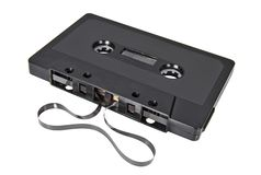 Retro audio cassette for tape recorder royalty free stock image