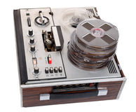 Retro audio tape recorder Royalty Free Stock Photo