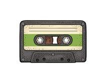 Retro audio vassoio Illustrazione d'annata dell'incisione del nero di vettore royalty illustrazione gratis