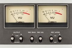 Retro- Audioanzeigen Stockfoto