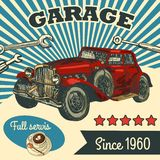 Retro auto stock illustratie