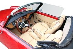 Retro auto binnen Stock Afbeelding