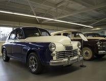 Retro auto in een museum van de Oekraïne Stock Foto's